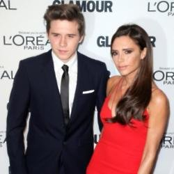 Brooklyn Beckham with his mother Victoria Beckham