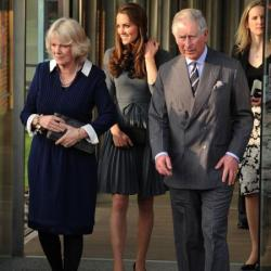 Camilla, Catherine and Charles on the visit