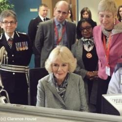 Camilla, the Duchess of Cornwall at the Met Police's base (c) Clarence House