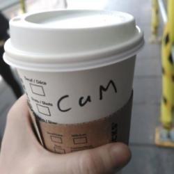 Cam's Starbucks name (c) Twitter