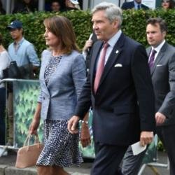 Carole and Michael Middleton at Wimbledon