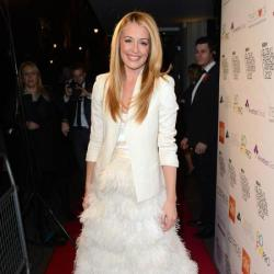 Cat Deeley stood out in her dramatic skirt