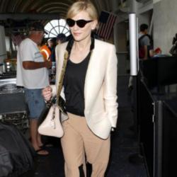 Cate Blanchett looks comfortable and stylish