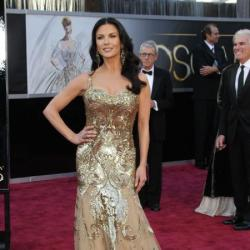Catherine Zeta Jones went for the all over colour beauty trend and Hollywood glamour curls