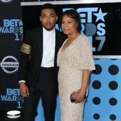 Chance the Rapper and his mother