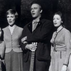 Charmian Carr with Julie Andrews and Christopher Plummer in The Sound of Music