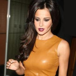 Cheryl Cole looked beautiful in her mustard leather dress