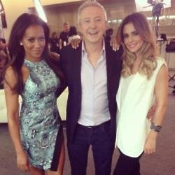 Mel B, Louis Walsh and Cheryl Tweedy at X Factor in 2014