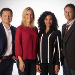 Chris Hollins with Sophie Raworth, Michelle Ackerley and Matt Allwright