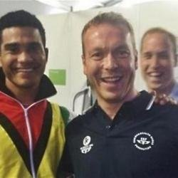 Chris Hoy and Prince William (c) Twitter