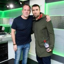 Chris Moyles with Liam Gallagher