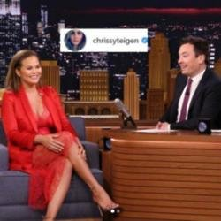 Chrissy Teigen on The Tonight Show with Jimmy Fallon