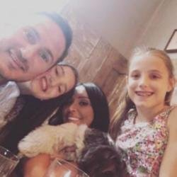 Christine Lampard, Frank Lampard and his daughters (c) Instagram
