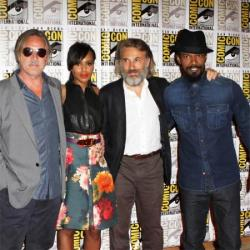 Christoph Waltz with Django Unchained cast