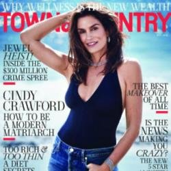 Cindy Crawford in Town and Country magazine