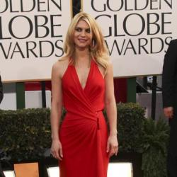 Claire Danes looks beautiful in red Versace