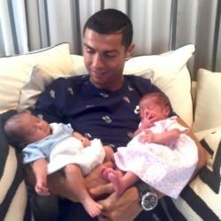 Cristiano Ronaldo shares photo of twins