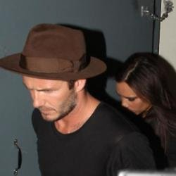David and Victoria Beckham leave her birthday party