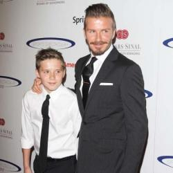 David Beckham with son Brooklyn