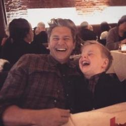 David Burtka and his son Gideon via Neil Patrick Harris' Instagram
