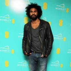 David Haye at the Hilton rooftop bar to celebrate the transformation of the iconic arch at Wembley Stadium connected by EE