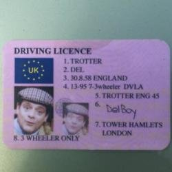Del Boy driving licence (c) Twitter