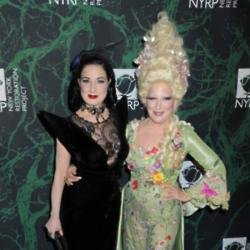 Dita von Teese with Bette Midler at Hulaween bash