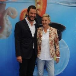 Dominic West and Ellen DeGeneres at the UK Finding Dory premeiere