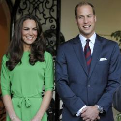 Duchess Catherine in DvF with Prince William
