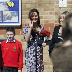 Duchess Catherine at Willows primary school