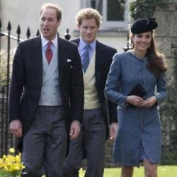 Prince William, Prince Harry, and Duchess Catherine
