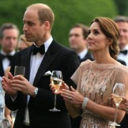 Duke and Duchess of Cambridge at the charity dinner