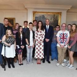 Duke and Duchess of Cambridge with Teen Heroes