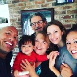 Dwayne Johnson with Sib Hashian and his family via Instagram