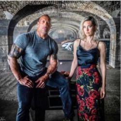 Dwayne 'The Rock' Johnson and Vanessa Kirby (c) Instagram