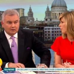 Eamonn Holmes and Kate Garraway on Good Morning Britain (c) Twitter