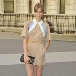 Edie Campbell rocks the socks and shoes trend