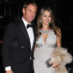 Shane Warne and Elizabeth Hurley in 2012