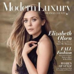 Elizabeth Olsen for Modern Luxury magazine