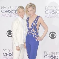 Portia de Rossi (right) with wife Ellen DeGeneres