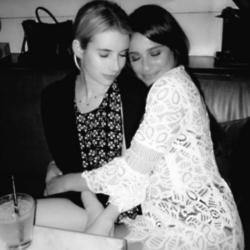 Emma Roberts and Lea Michele