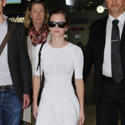 Emma Watson looks chic in white