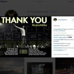 Enrique celebrated with an Instagram post