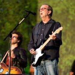 Eric Clapton performing at BST