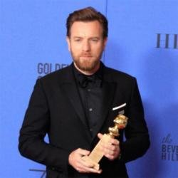 Ewan McGregor with his Golden Globe