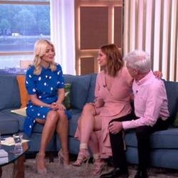 Holly Willoughby, Ferne McCann and Phillip Schofield on This Morning