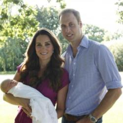 Prince George made his second public appearance since he was born last July.