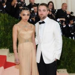 FKA Twigs with Robert Pattinson at the Met Gala