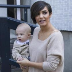 Frankie Bridge with son Parker