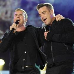 Gary Barlow and Robbie Williams